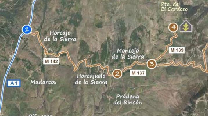 Hayedo de Montejo - Mapa - 2